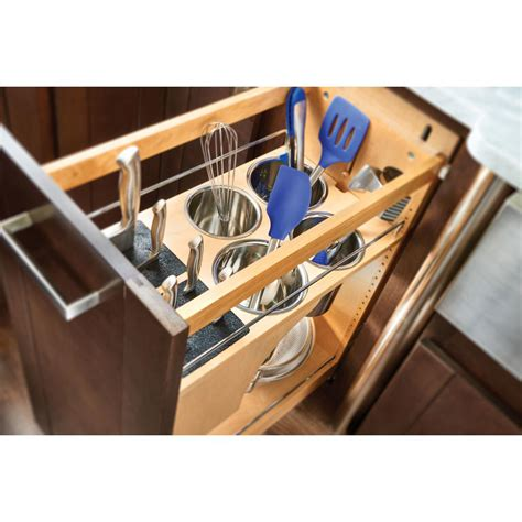 base cabinet organizer pull out rev a shelf 26 in h x 5 in w x 23 in d pull out wood