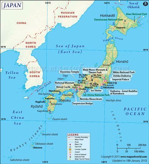 map of japan map of japan japan archipelago