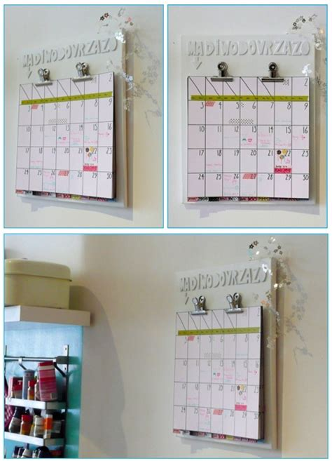 How To Make Handmade Calendar - calendars calendar template 2016
