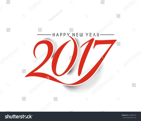 happy new year 2017 text happy new year 2017 text design vector 429288778