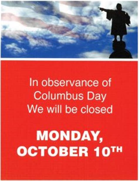 Is The Post Office Closed On Columbus Day by Closed For Columbus Day Wright Center For S Health