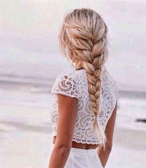 blonde hairstyles we heart it image via we heart it beach blonde braid clothes