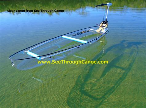 clear kayak clear canoe from see through canoe