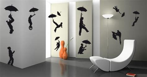 silhouette artworks inspiring creative wall decoration  teenage bedroom design