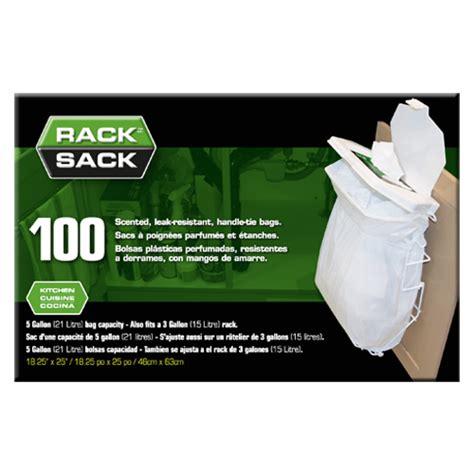 Rack Sack Bags rack sack 5 gallon trash bags 100 count in cabinet trash