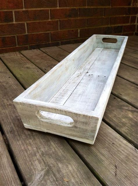 white wooden table l tray white washed l wooden tray l table centerpiece