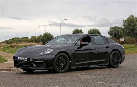 porsche sedan 2016 2016 porsche panamera prototype spied will get all new v8