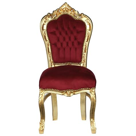 Burgundy Accent Chair Accent Chair Gold Leafed Solid Wood Burgundy Velvet