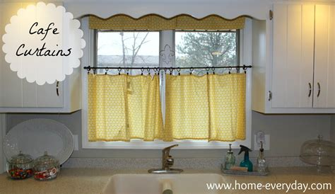 How To Make Cafe Curtains For Kitchen Election Hangover Fix Curtains Home Everyday