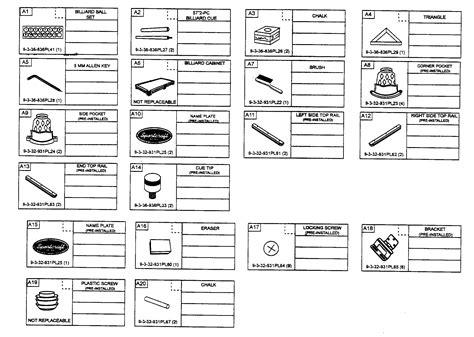 table l parts diagram accessories diagram parts list for model 1132931pl