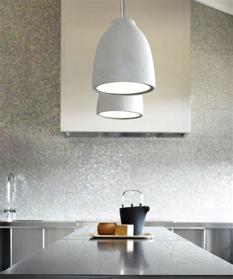 Beacon Lighting Pendants Beacon Lighting Tadao Industrial 1 Light Flat Top Shaped Pendant In Light Weight Concrete And