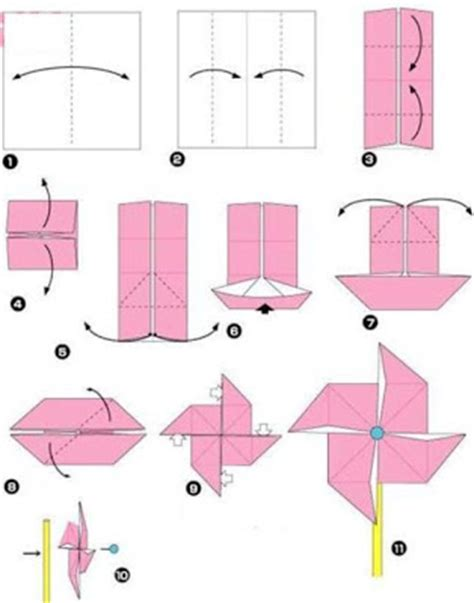 How To Make Paper Windmill - origami windmill origami and craft