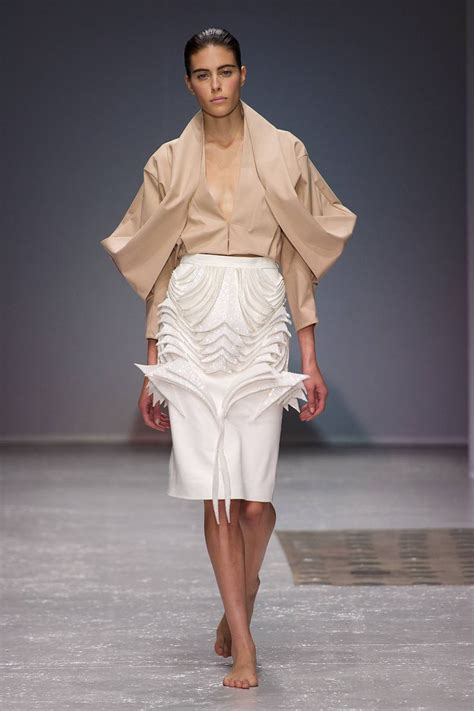 fashion design draping wearable art sculptural fashion design with symmetrical