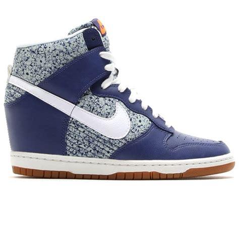 nike liberty sneakers outlet nike wmns dunk sky hi liberty shoes blue