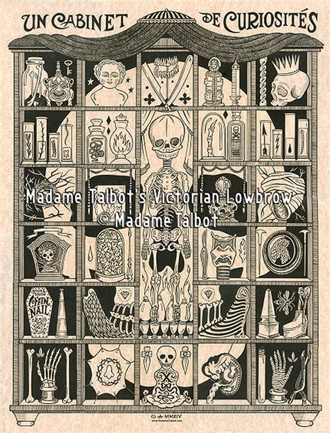 Curiosity Cabinets by Curiosity Cabinet Glow In The Skull Poster