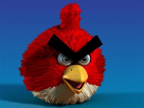 Kaos 3d Umakuka Angry Bird 3d model character angry birds