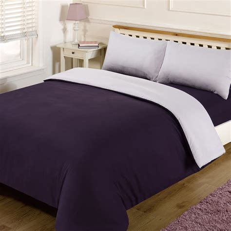 Plain Bed Linen Sets Linens Limited Plain Reversible Duvet Cover Set Ebay
