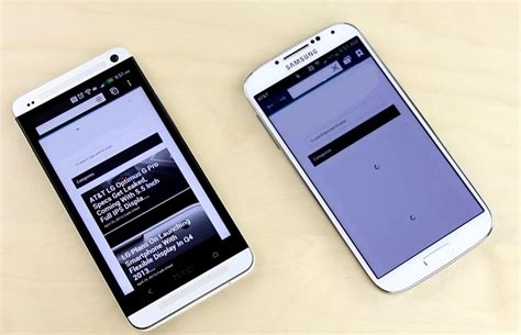 mobile browser speed test samsung galaxy s4 vs htc one which one is faster