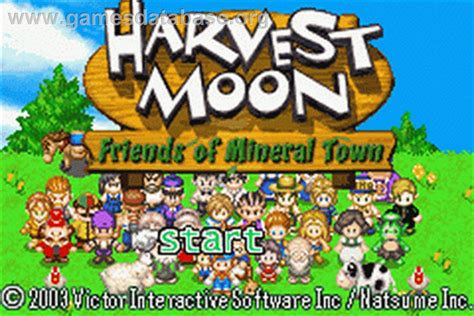 harvest moon harvest moon friends of mineral town nintendo game boy