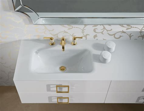High End Bathroom Furniture D14 High End Italian Bathroom Furniture In White Lacquer