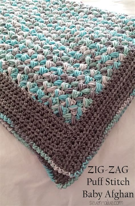 zig zag crochet pattern how to free crochet pattern zig zag puff stitch baby afghan