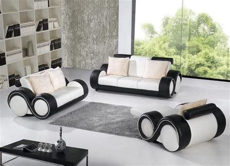 black and white sofa set b783 modern black and white leather sofa set leather