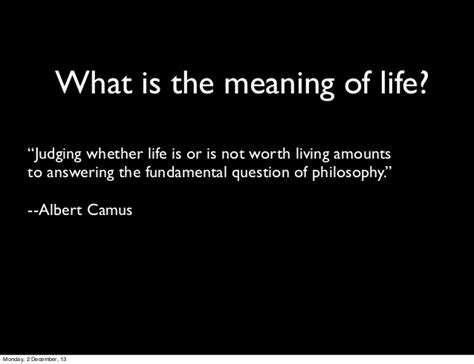 the meaning of section meaning of life