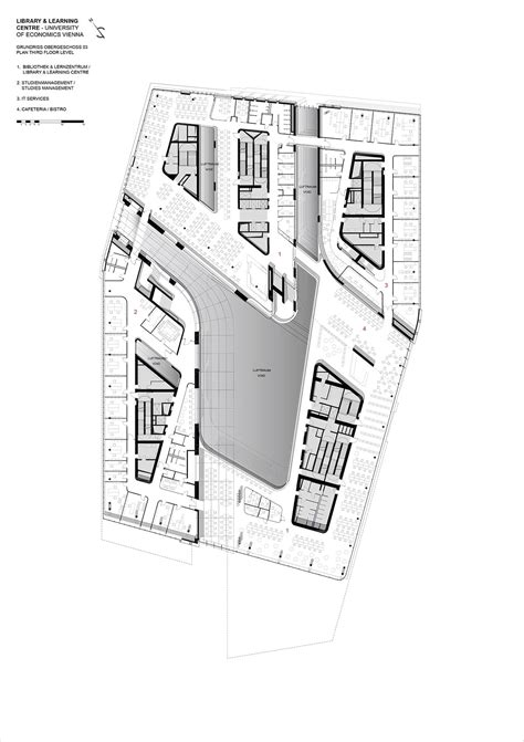 zaha hadid floor plan vienna university of economics library and learning centre