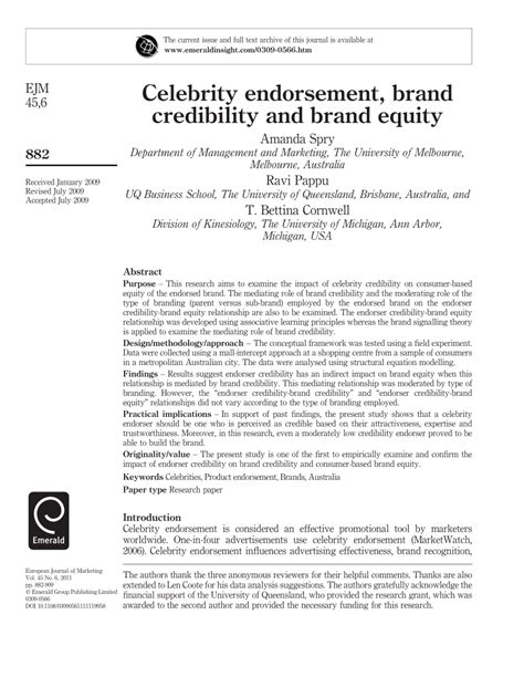 libro the principles of equity celebrity endorsement brand credibility pdf download available