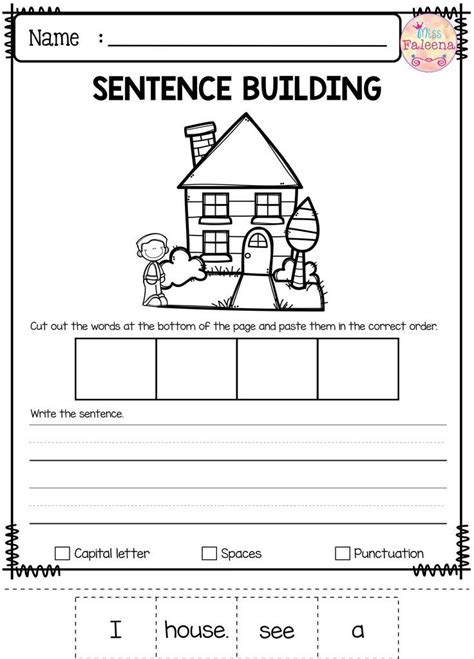 Kindergarten Sentence Building Worksheets by Best 25 Sentence Building Ideas On Writing