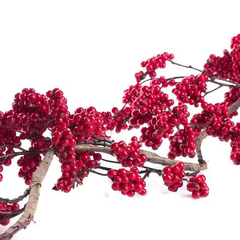 red artificial berry cluster garland christmas garlands