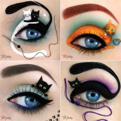 imagenes de ojos para halloween 17 mejores ideas sobre maquillaje halloween gato en
