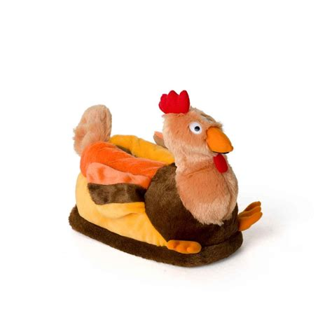 yellow slippers novelty turkey for adults and children