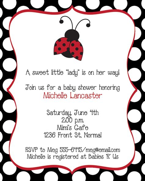 Ladybug Baby Shower Invitations Theruntime Com Free Printable Ladybug Baby Shower Invitations Templates