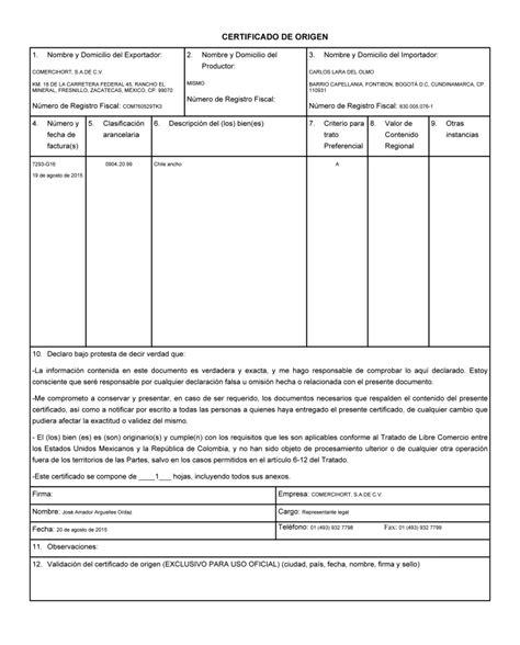 certificado de origen mexico newhairstylesformen2014com certificado de origen electr 243 nico idc