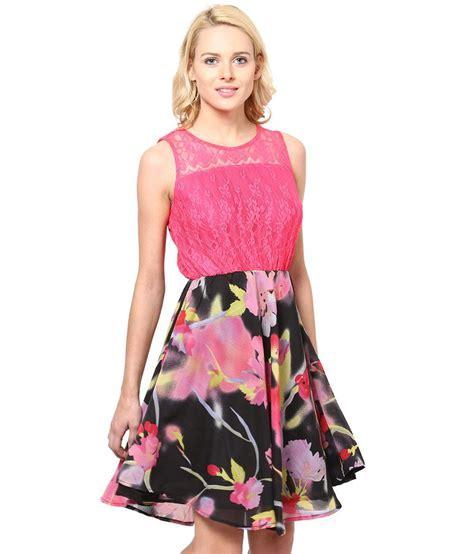 Fanessa Dress Pink Pink buy chandlace net pink dress at best