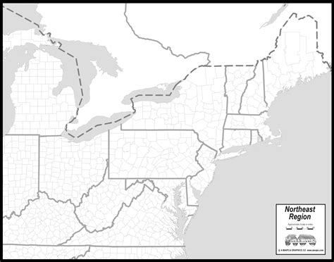 map usa northeast region free map of northeast states