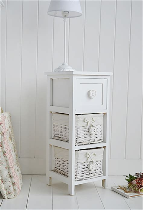 Narrow White Bedside Table White Narrow Bedside Table With Drawers 25cm Wide