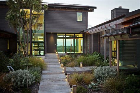 Landscape Architect New Zealand Contemporary Home In Te Horo New Zealand