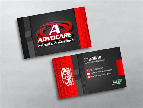 advocare business card template advocare business card 01