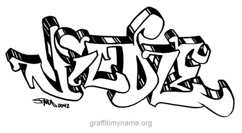 name in graffiti colouring pages
