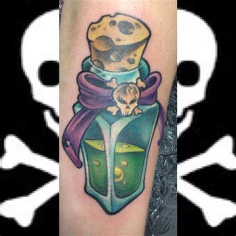 new school bottle tattoo off the map tattoo
