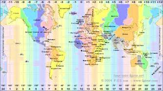 Time Zone Map Of The World by Time Zones Of The World Fgi