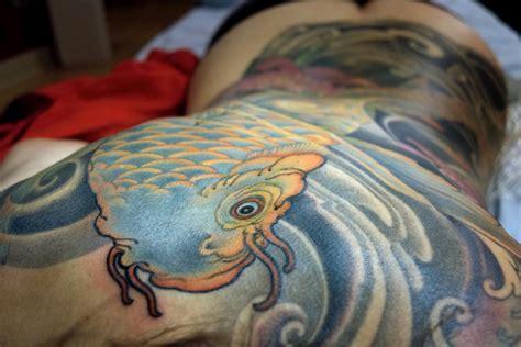 lotus tattoo jeff gogue asagi koi back piece by jeff gogue tattoos