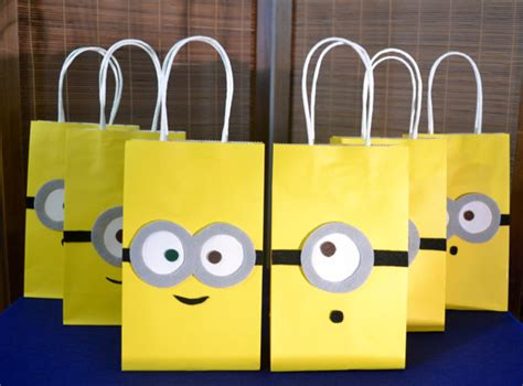 how to make minion favor bags minions favor bags set of 12 minion inspired party bags