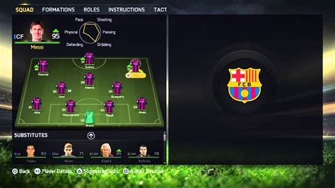 best for motion fifa 15 best fc barca formation team tactics setup