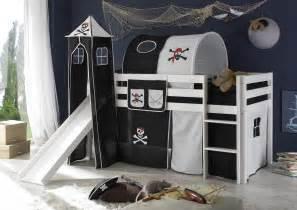 lit enfant sur 233 lev 233 et toboggan pin massif blanc pirate