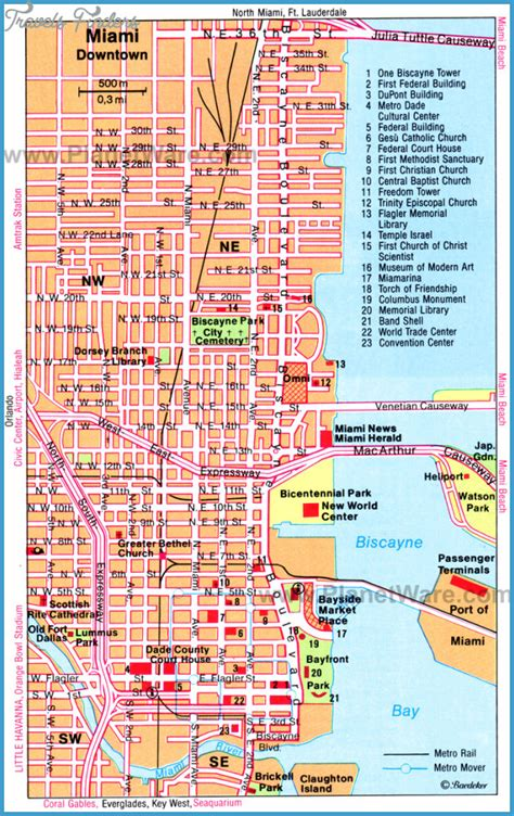 miami map miami map tourist attractions travelsfinders