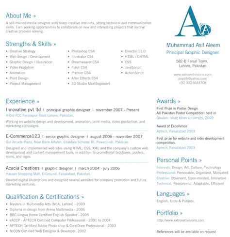 30 beautiful designer s one page resume sles the design work