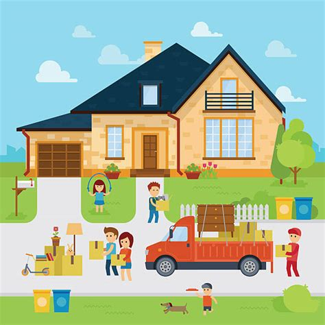 royalty  moving house clip art vector images